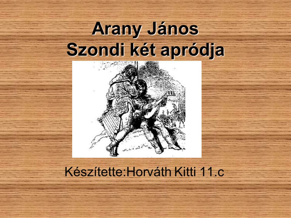 Arany János Szondi két apródja