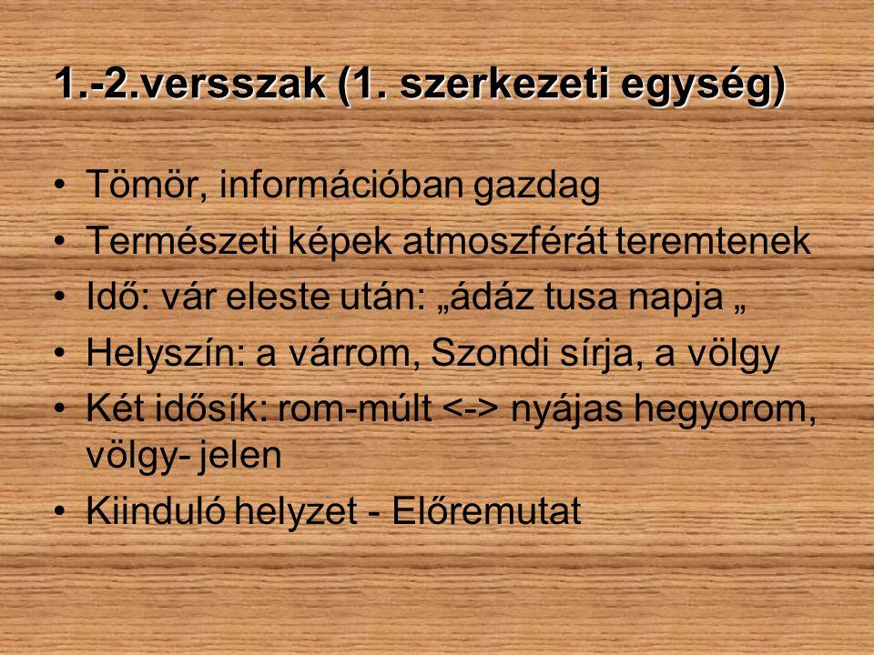 1.-2.versszak (1. szerkezeti egység)