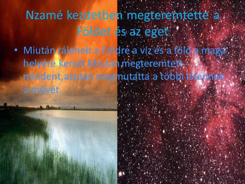 Nzamé kezdetben megteremtette a Földet és az eget