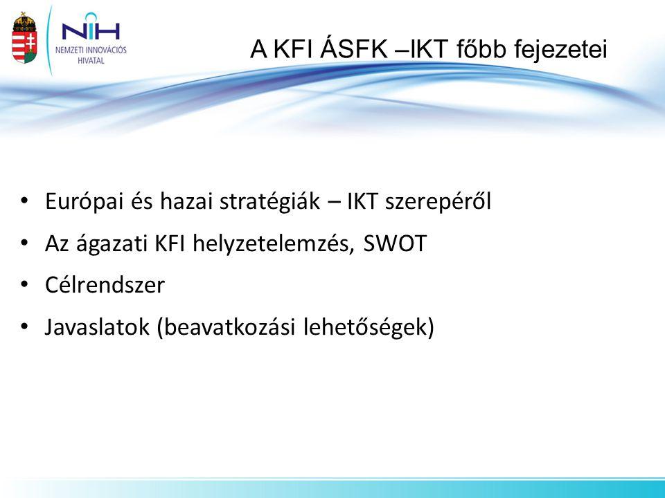 A KFI ÁSFK –IKT főbb fejezetei