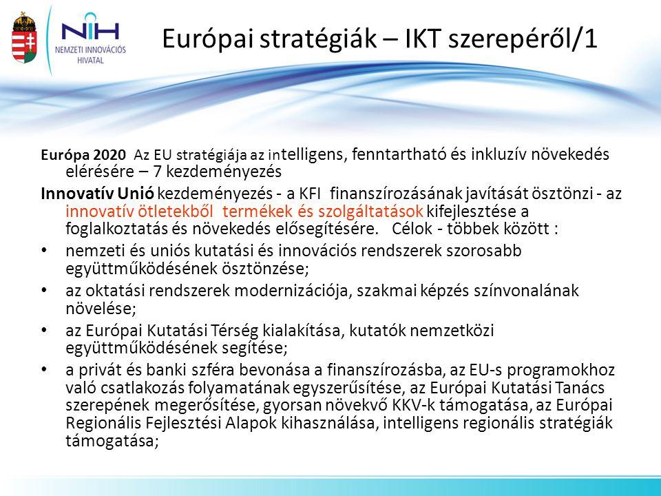 Európai stratégiák – IKT szerepéről/1