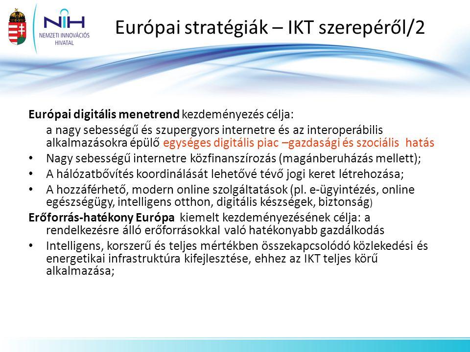 Európai stratégiák – IKT szerepéről/2