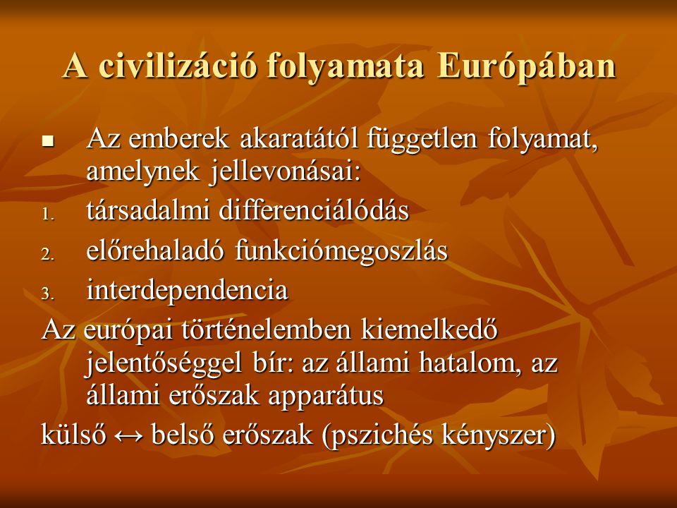 A civilizáció folyamata Európában