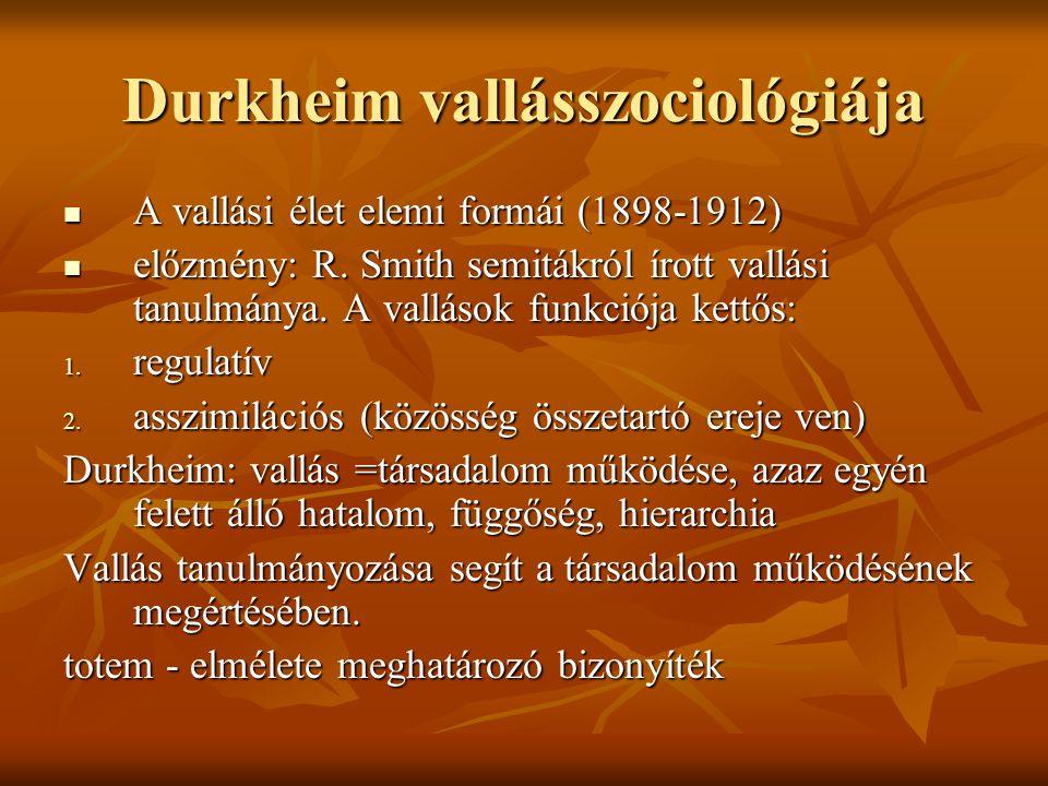 Durkheim vallásszociológiája