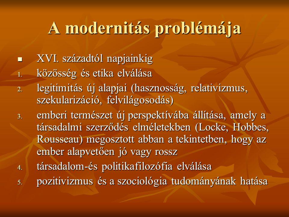 A modernitás problémája