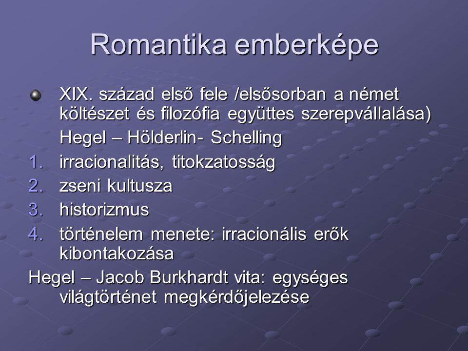 Romantika emberképe XIX. század első fele /elsősorban a német költészet és filozófia együttes szerepvállalása)