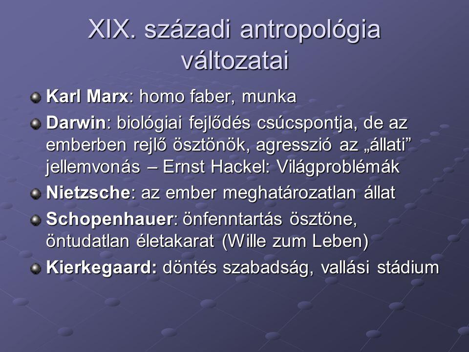 XIX. századi antropológia változatai