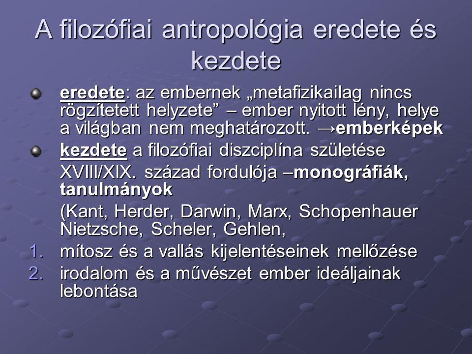 A filozófiai antropológia eredete és kezdete
