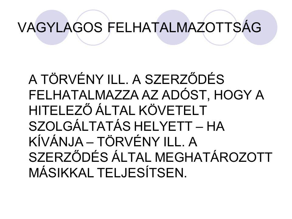 VAGYLAGOS FELHATALMAZOTTSÁG