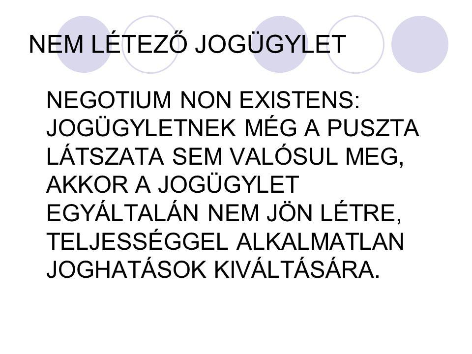 NEM LÉTEZŐ JOGÜGYLET