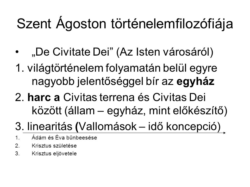Szent Ágoston történelemfilozófiája