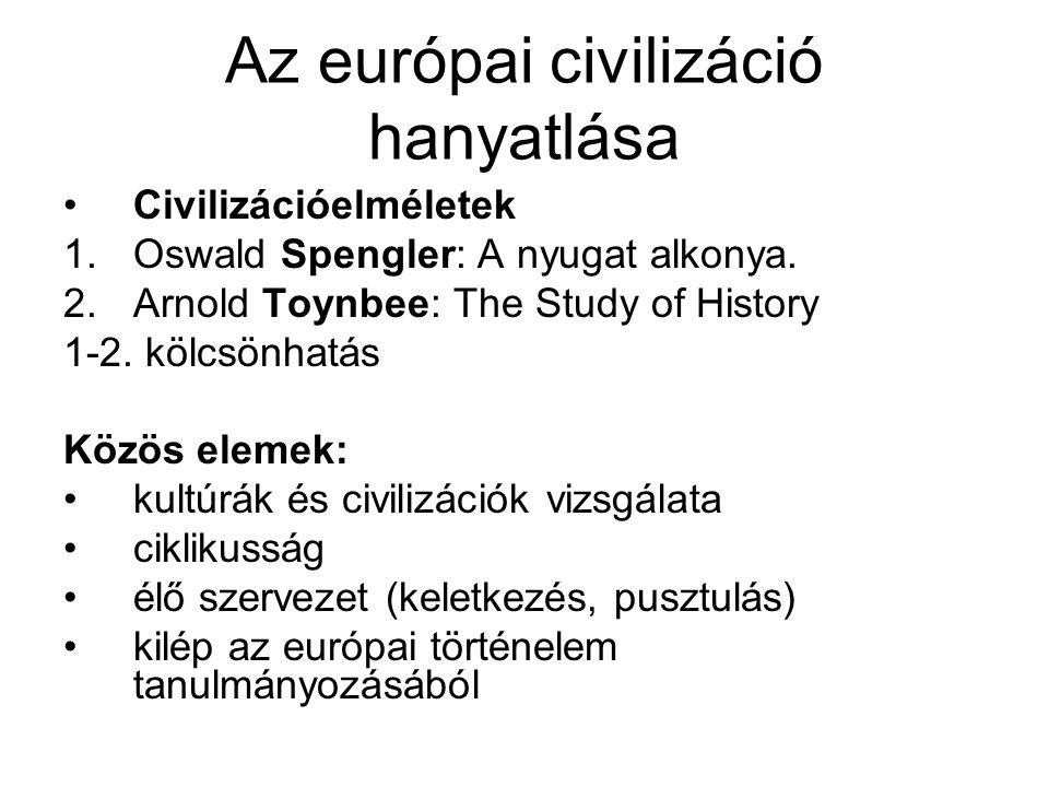 Az európai civilizáció hanyatlása