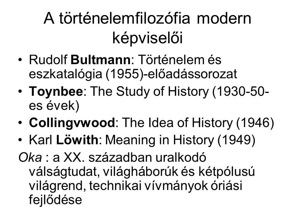 A történelemfilozófia modern képviselői