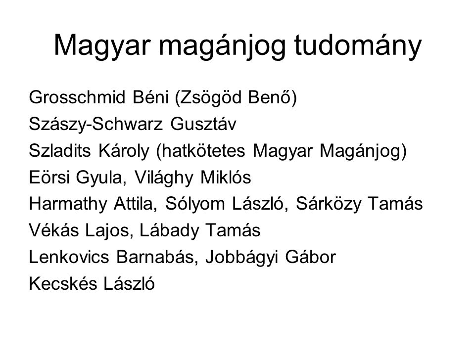 Magyar magánjog tudomány