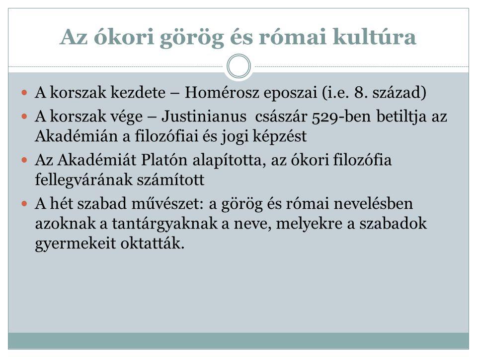 Az ókori görög és római kultúra