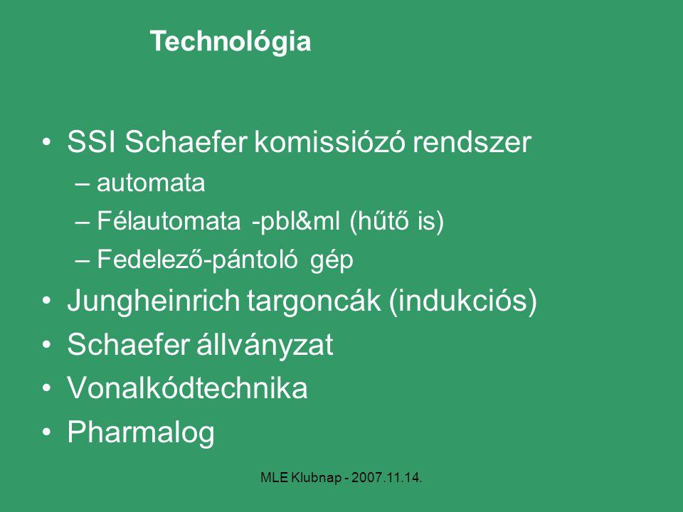 SSI Schaefer komissiózó rendszer