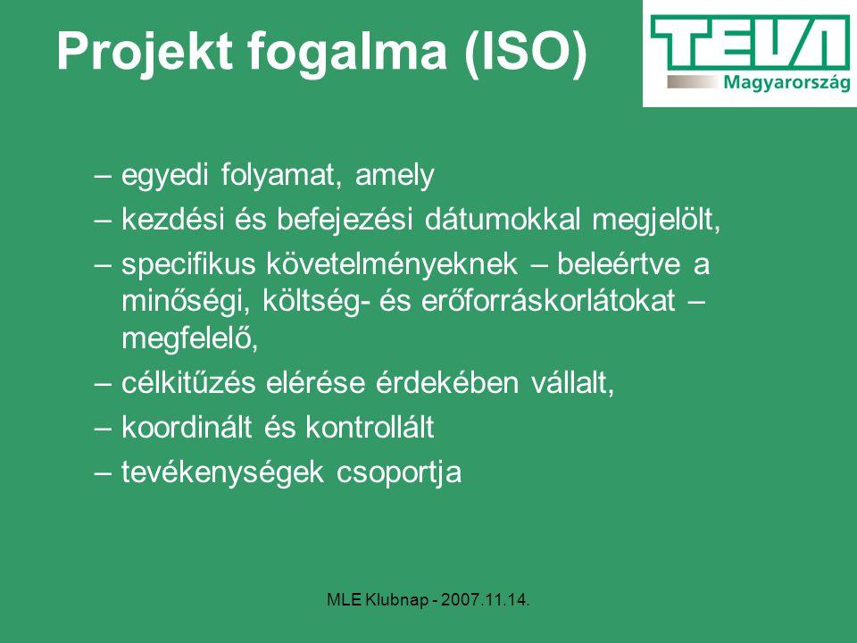 Projekt fogalma (ISO) egyedi folyamat, amely