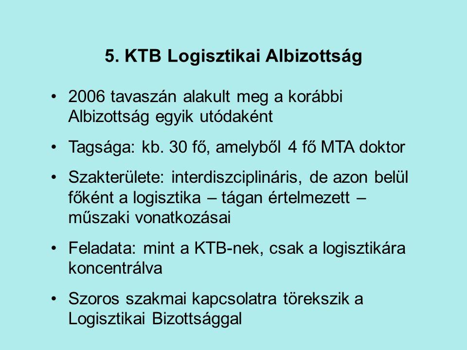 5. KTB Logisztikai Albizottság