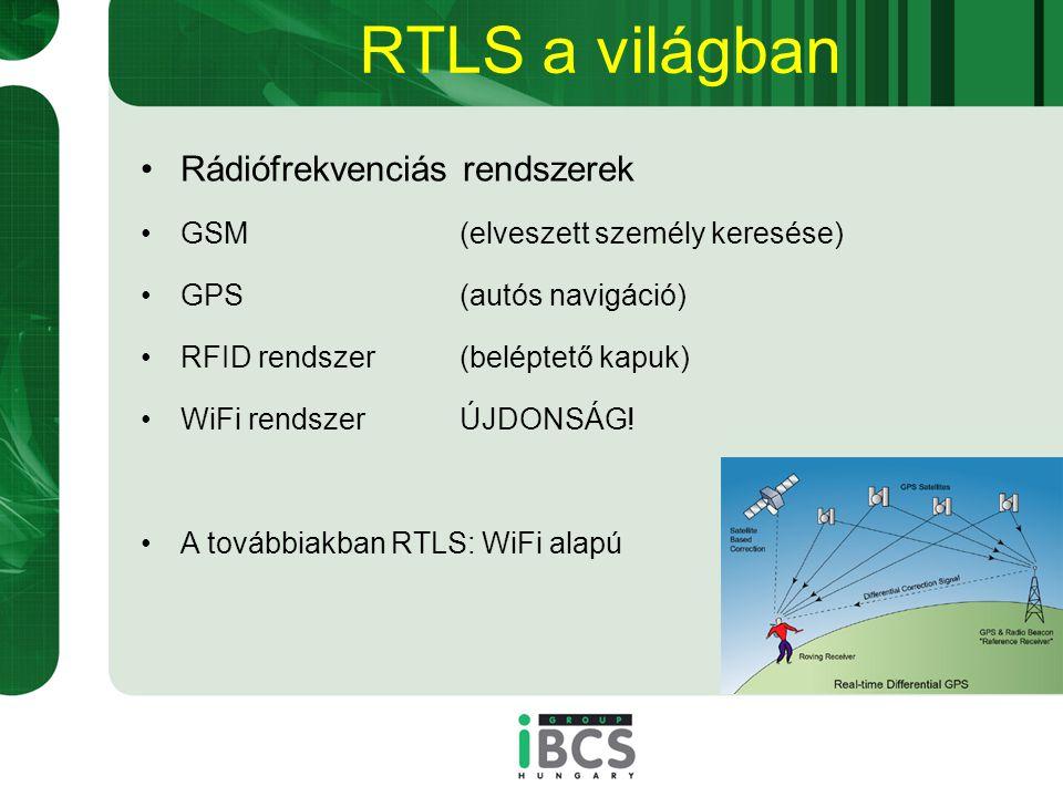 RTLS a világban Rádiófrekvenciás rendszerek
