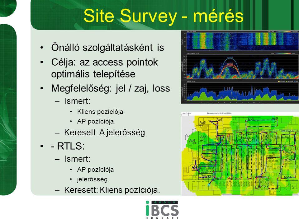 Site Survey - mérés Önálló szolgáltatásként is