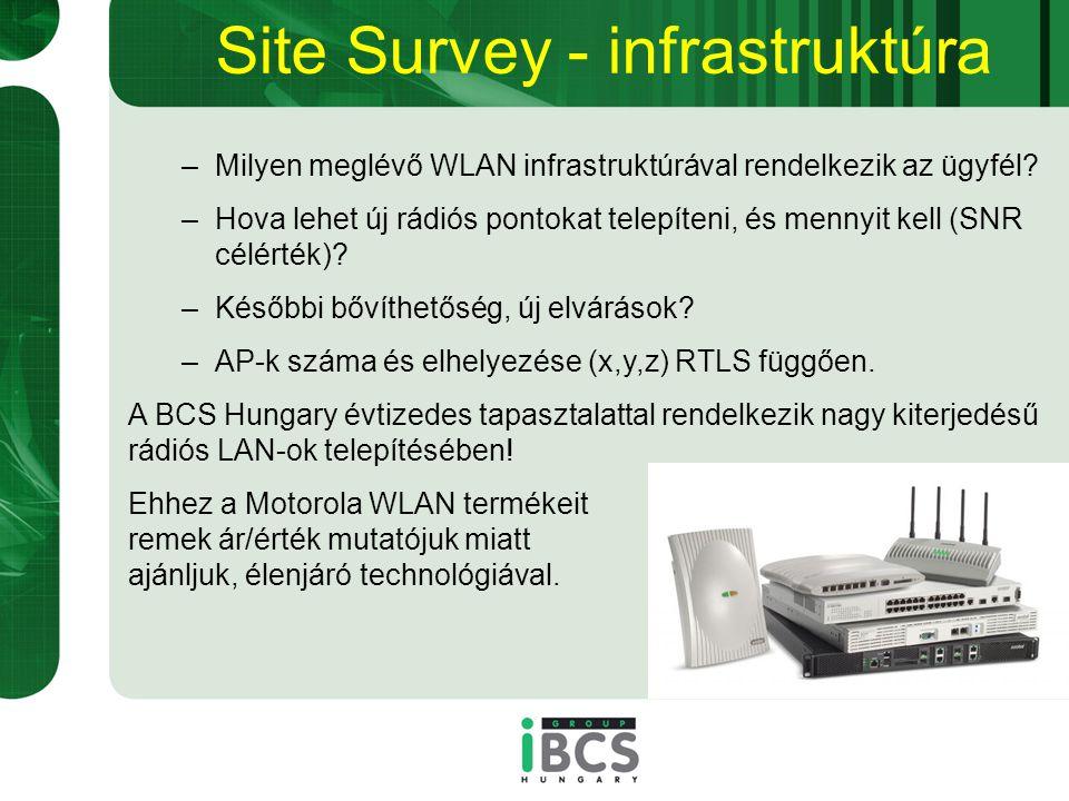 Site Survey - infrastruktúra