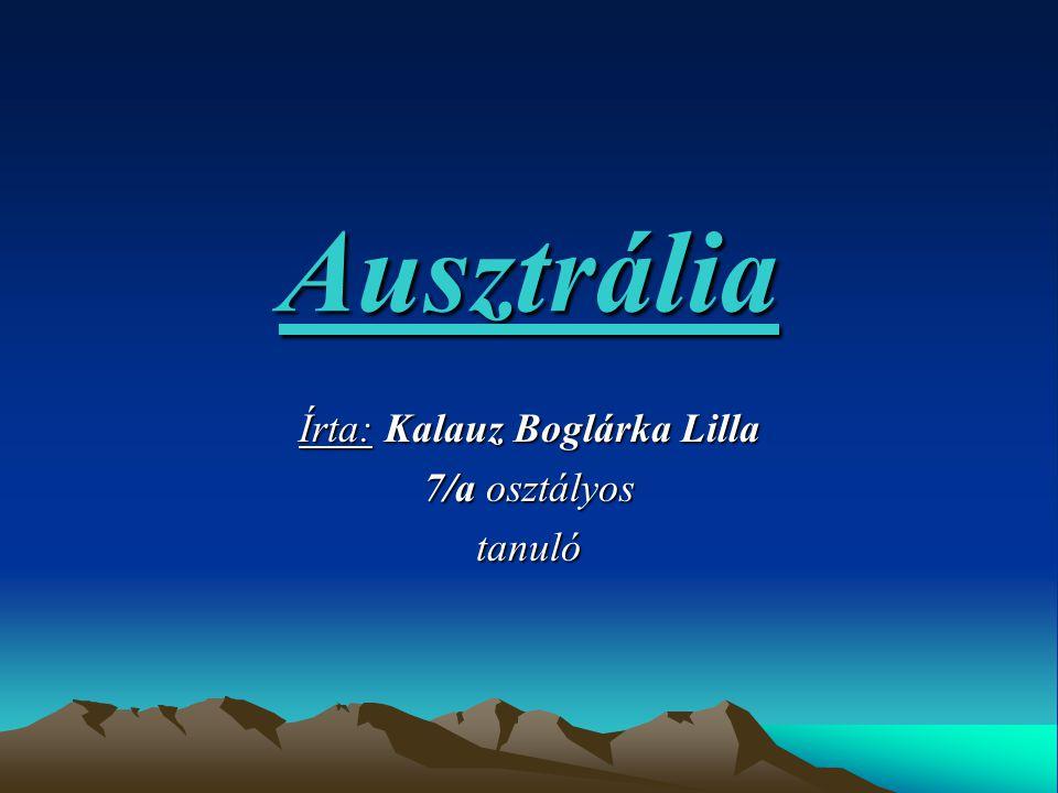 Írta: Kalauz Boglárka Lilla 7/a osztályos tanuló