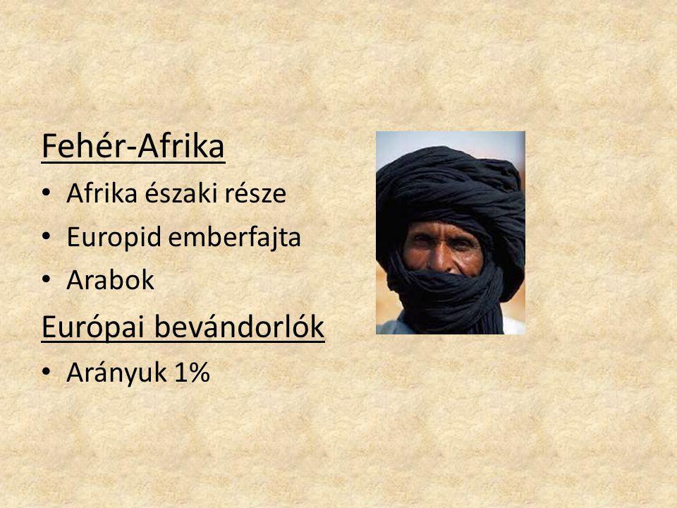 Fehér-Afrika Európai bevándorlók Afrika északi része