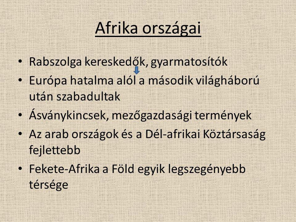 Afrika országai Rabszolga kereskedők, gyarmatosítók