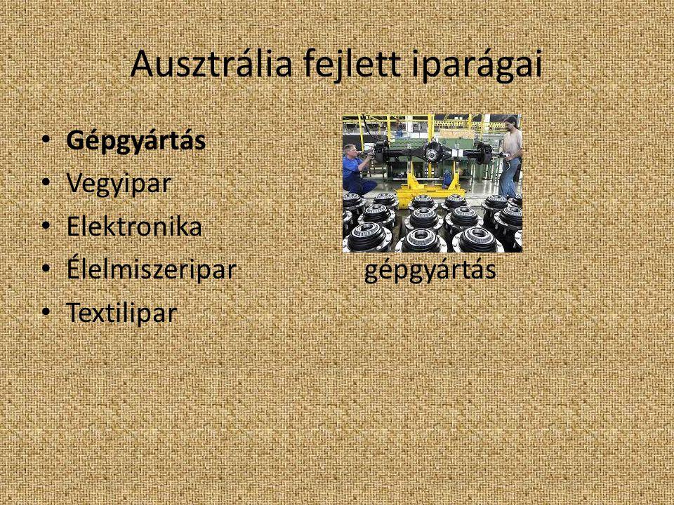 Ausztrália fejlett iparágai