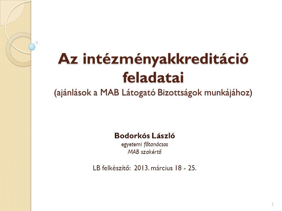 LB felkészítő: 2013. március 18 - 25.