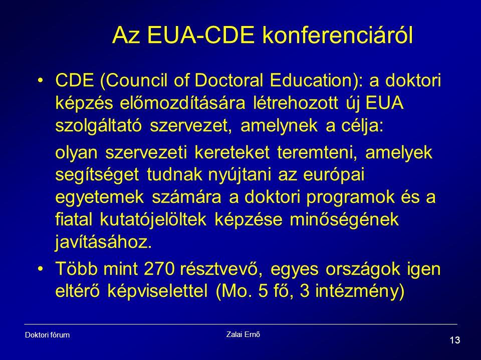 Az EUA-CDE konferenciáról