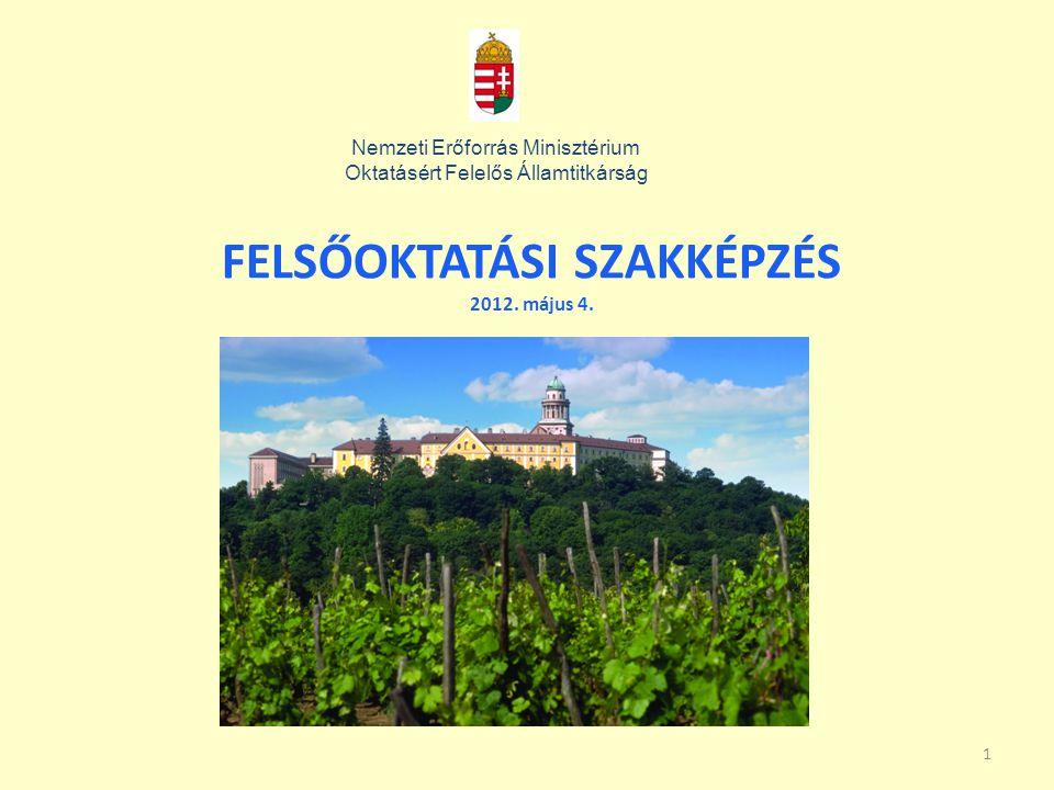 FELSŐOKTATÁSI SZAKKÉPZÉS 2012. május 4.