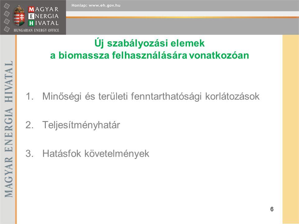 Új szabályozási elemek a biomassza felhasználására vonatkozóan