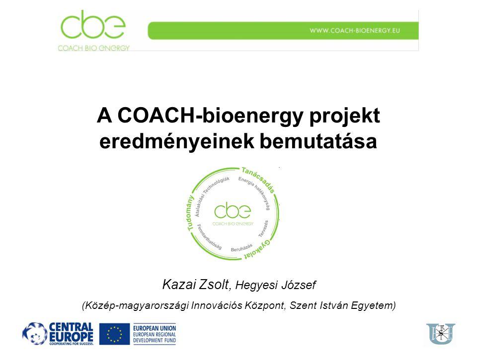 A COACH-bioenergy projekt eredményeinek bemutatása