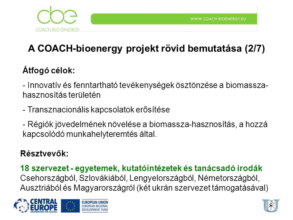 A COACH-bioenergy projekt rövid bemutatása (2/7)