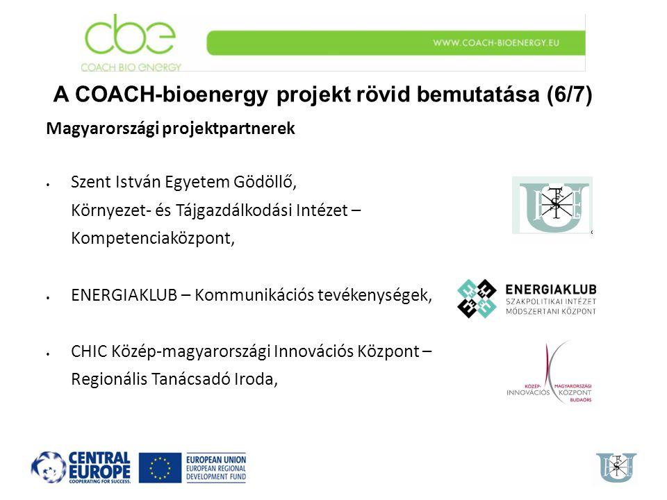 A COACH-bioenergy projekt rövid bemutatása (6/7)