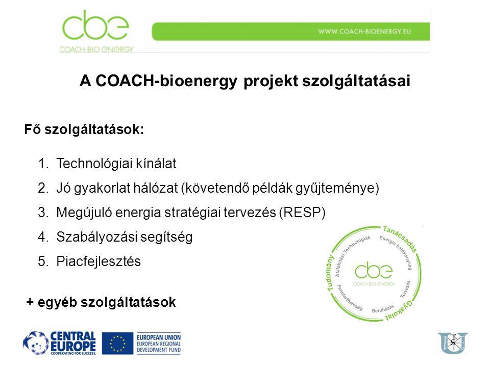 A COACH-bioenergy projekt szolgáltatásai