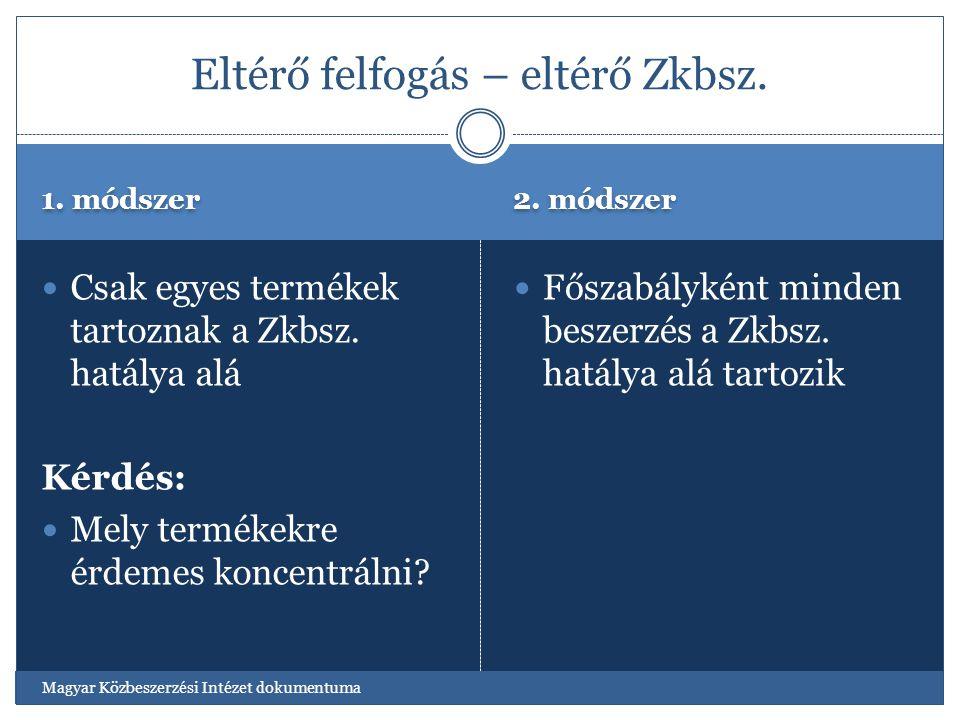 Eltérő felfogás – eltérő Zkbsz.