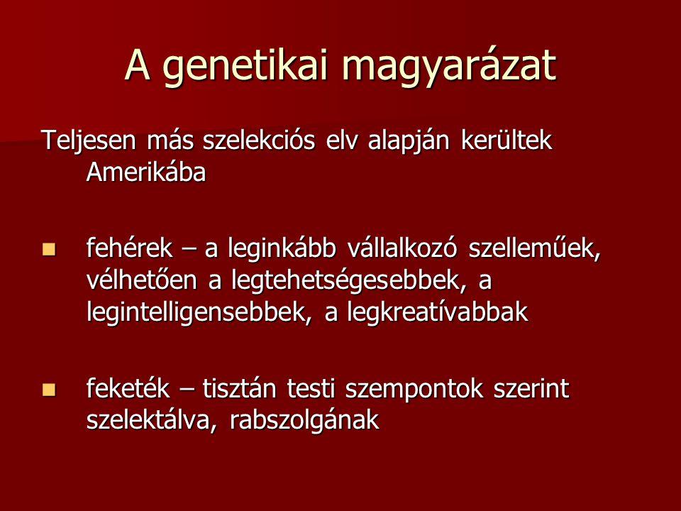 A genetikai magyarázat