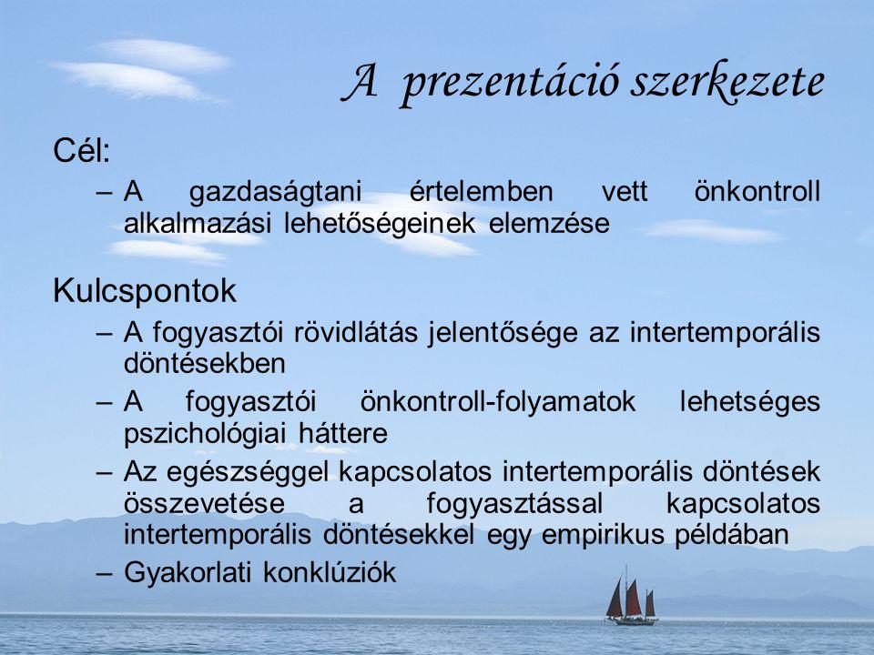 A prezentáció szerkezete