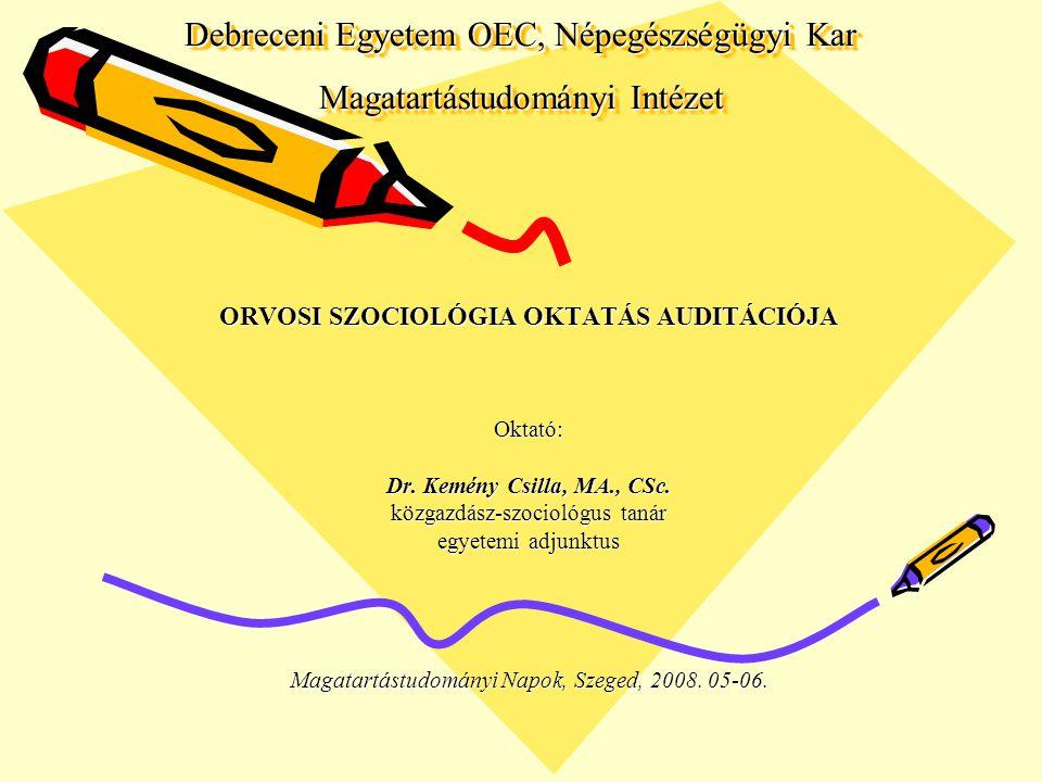 Debreceni Egyetem OEC, Népegészségügyi Kar Magatartástudományi Intézet