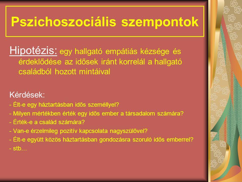 Pszichoszociális szempontok