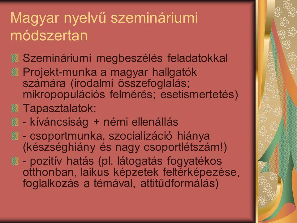 Magyar nyelvű szemináriumi módszertan