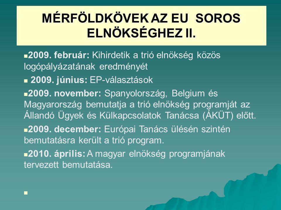MÉRFÖLDKÖVEK AZ EU SOROS ELNÖKSÉGHEZ II.