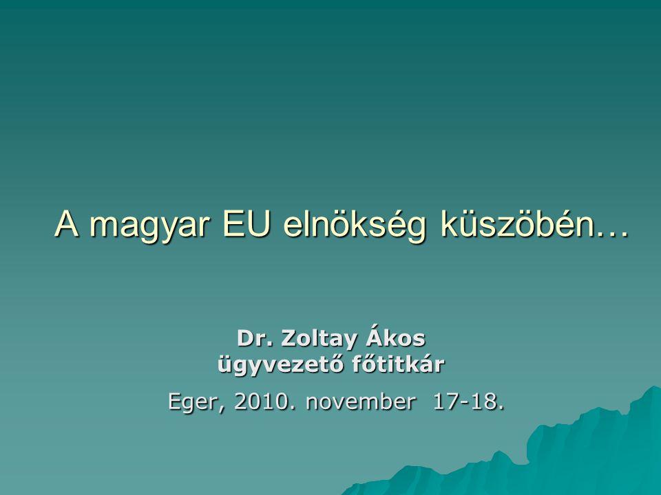 A magyar EU elnökség küszöbén…