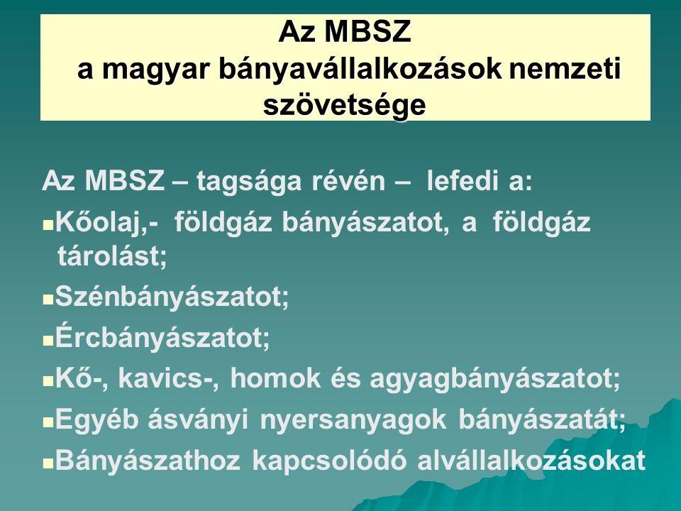 a magyar bányavállalkozások nemzeti szövetsége
