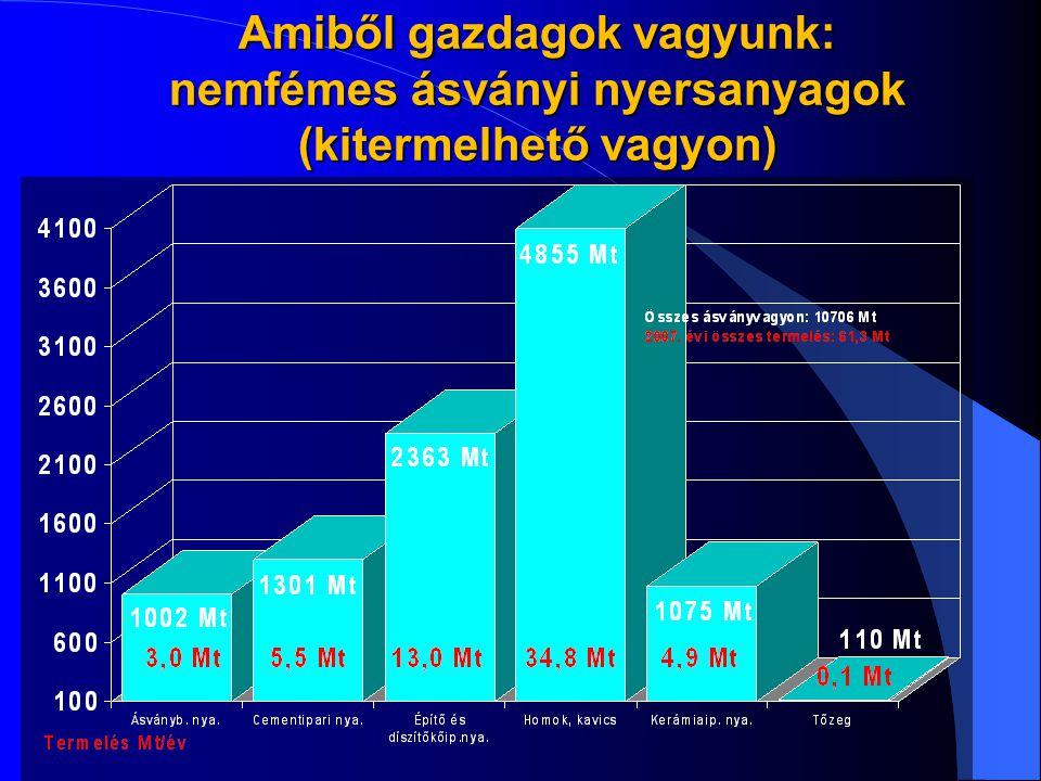Amiből gazdagok vagyunk: nemfémes ásványi nyersanyagok (kitermelhető vagyon)