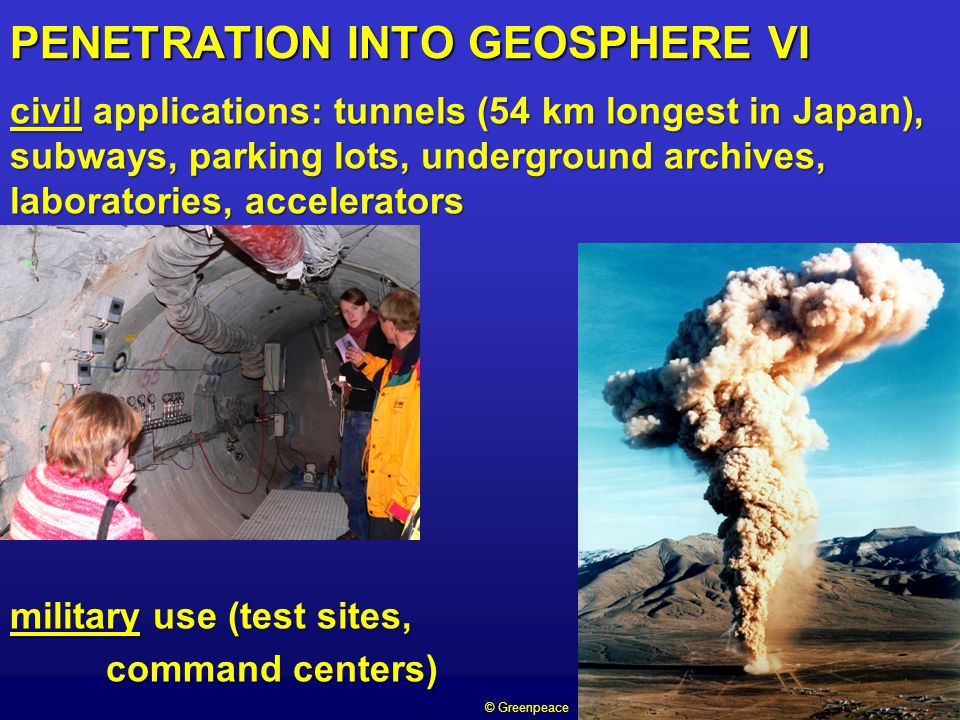 PENETRATION INTO GEOSPHERE VI