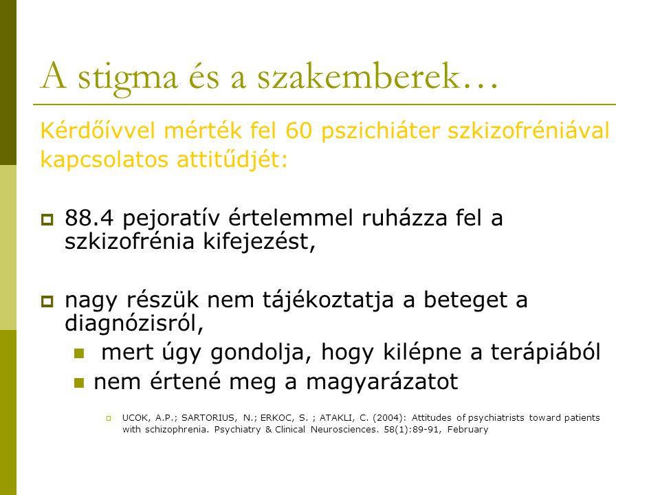 A stigma és a szakemberek…
