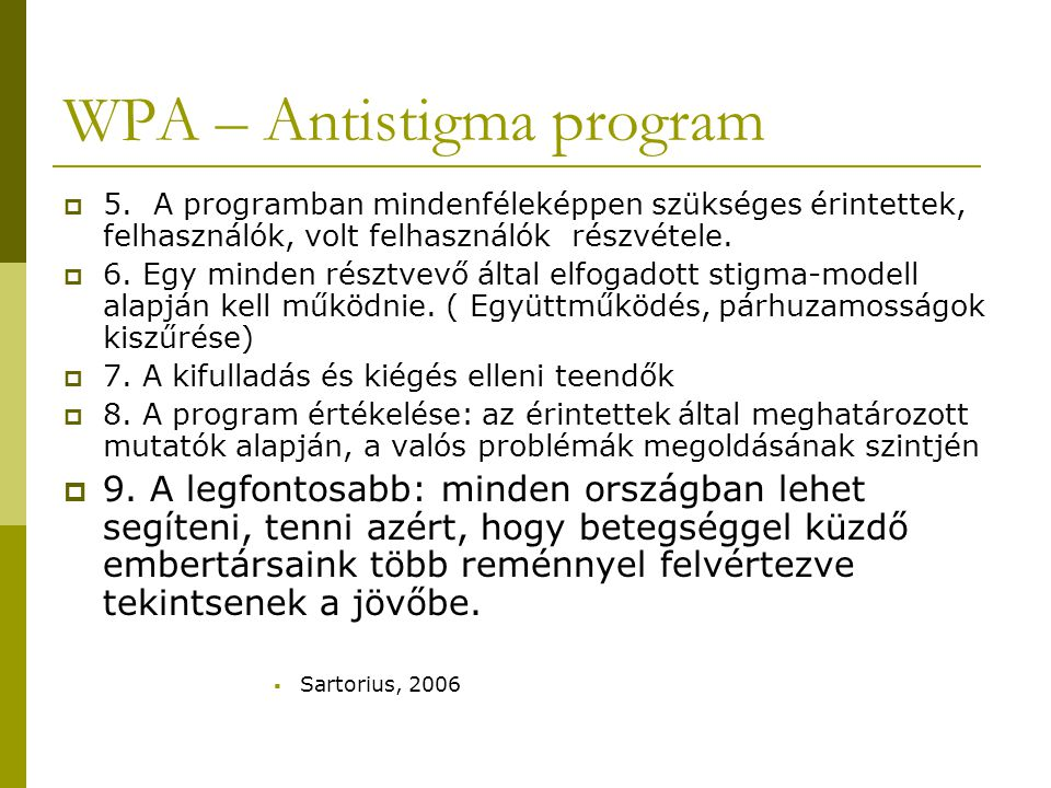 WPA – Antistigma program